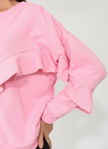 Önü Volan Detaylı Sweatshirt-People By Fabrika